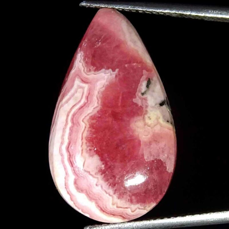16.70Cts Natural Rhodochrosite Pear Cabochon Loose Gemstone