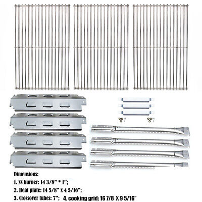 Char Broil 463460710 Replacement Grill Parts Repair Kit Grid Heat plate Burners