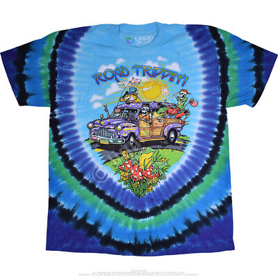 - FANTASY-ROAD TRIPPIN'-2 SIDED TIE DYE TSHIRT- S-M-L-XL-XXL Grateful Dead Allman