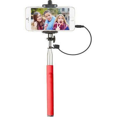 Vivitar VIV-TR-375-RED Selfie with Folding Clamp, Red