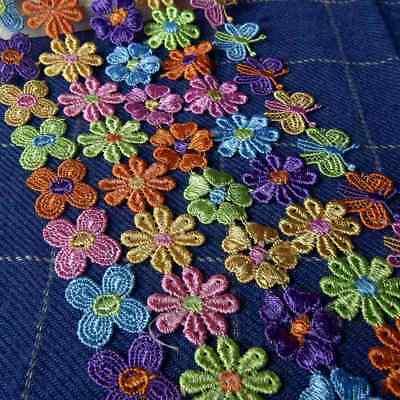 Venice Flower - 2 Yards Daisy Venice Applique Lace Flower Sewing Trim Craft for Dress Doll Decor