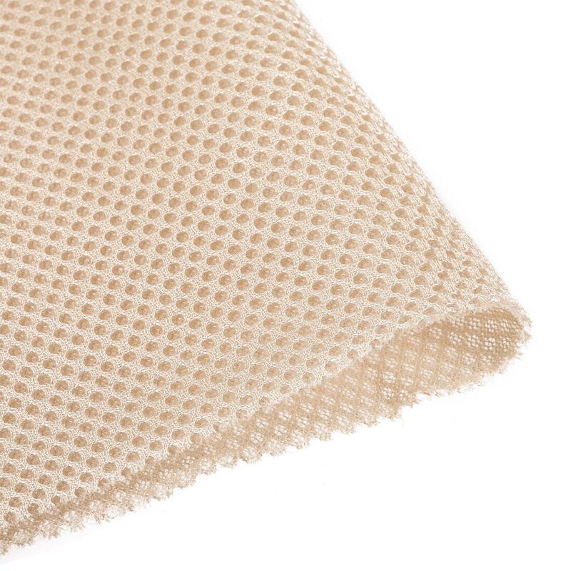 "Beige Speaker Mesh Grill Stereo Fabric Dustproof 100cm x 160cm 40"" x 63"""