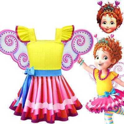 Fancy Nancy Cosplay Kids Girls Sleeveles Dress Summer Yellow Skirt Mask Costume (Masquerade Dresses Kids)