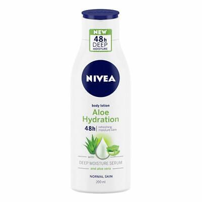 NIVEA Aloe Hydration Body Lotion, 200ml, with deep moisture serum and aloe vera