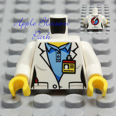 NEW Lego Female Minifig SCIENTIST TORSO Girl Rocket Doctor White Lab Coat Shirt for sale  Shipping to India