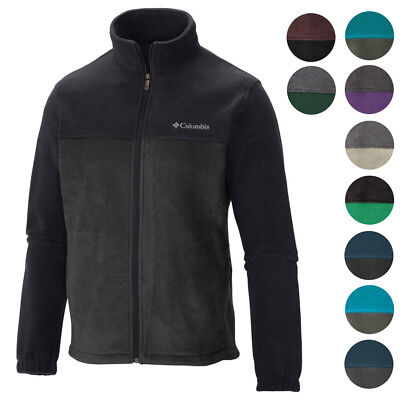 Columbia New Two Tone Colorblock Mens Original Winter Fleece Jacket  60