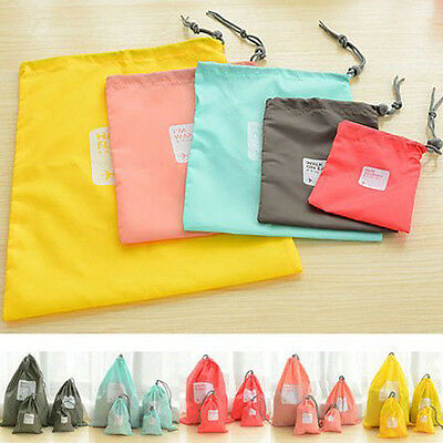 Set 4PC Waterproof Clothes Storage Bag Packing Cube Travel Luggage Organizer Bag