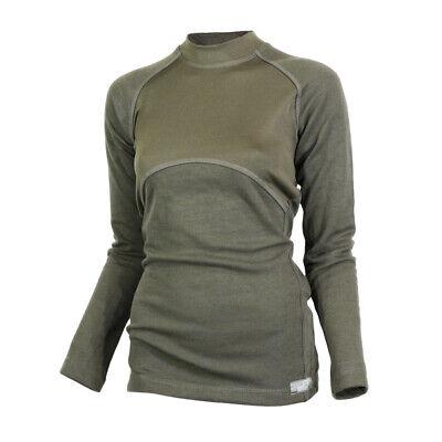 Wolle-unterwäsche Langarm (Merino Wolle Unterwäsche Base Layer Damen Top Langarmshirt Grün)