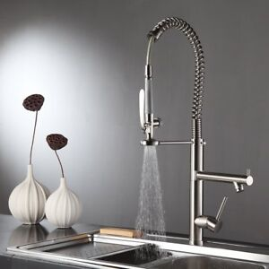 Commercial sink sprayer ebay 28 commercial pre rinse kitchen sink faucet pull down sprayer brushed nickel workwithnaturefo