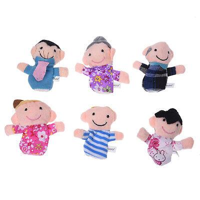6 Burattini Pupazzi Marionette da Dita Figura Umana Famiglia A7O1 A8Q7