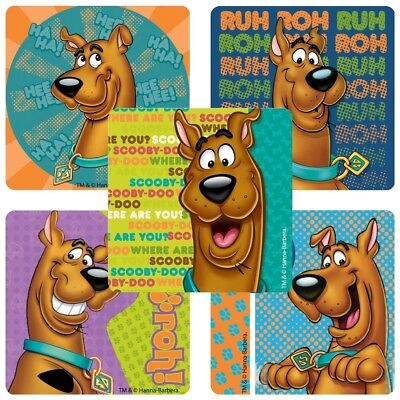 20 Scooby Doo STICKERS Party Favors Supplies Birthday Treat Loot Bags - Scooby Doo Birthday Supplies
