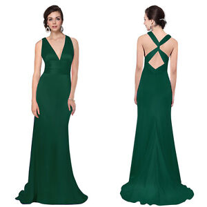 Long Ladies Party Bridesmaid Evening Formal Dresses 09008 Size 8 10 12 14 16 18