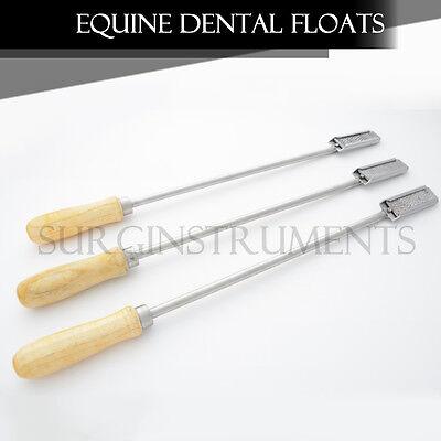 Set Of 3 Equine Dental Float Rasp Straight Veterinary Instruments