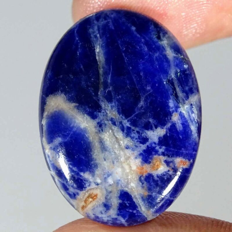 26.30Cts Natural Blue Sodalite Oval Cabochon Loose Gemstone