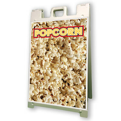 Popcorn Sidewalk Sign Retail A Frame 24x36 Concession Stand Outdoor
