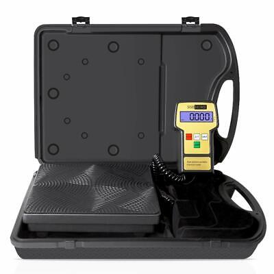 Vivohome 220lbs Electronic Hvac Refrigerant Charging Digital Weight Scale Case