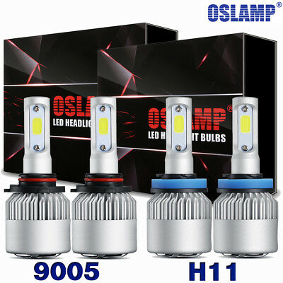 2Pair CREE LED Headlight Bulbs 1400W 9005 H11 High +Low Beam Combo HID Xenon Kit