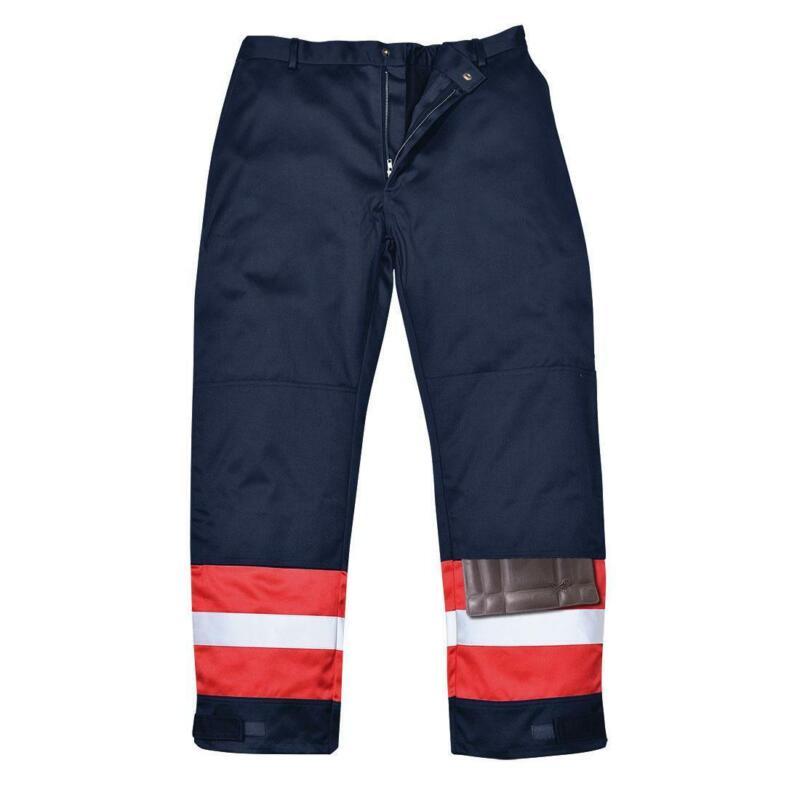 Portwest Bizflame Plus flame-resistant anti-static reflective trouser #FR56