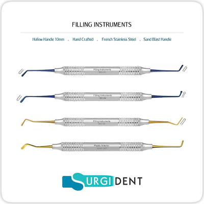 Filling Plastic Dental Composite Instrument Hand Titanium Tools Set Of 4