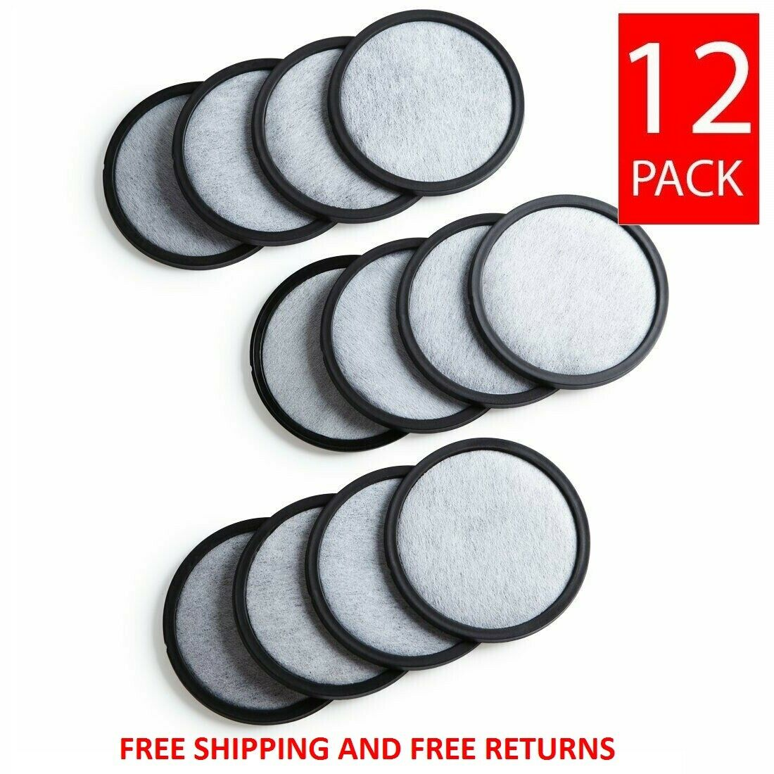 12 Mr. Coffee Replacement Charcoal Water Filter Disks for AL