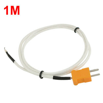 1m K-type Thermocouple Wire Sensor For Digital Thermometer Probe Fiber Glass