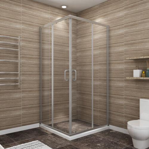 """SUNNY SHOWER 36"""" x 36"""" x 72"""" Frame Sliding Shower Door Enclosure Brushed Nickel"""
