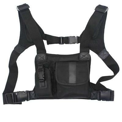 Universal Radio Harness Chest Rig Bag Pocket Holster Vest Police Walkie-talkie