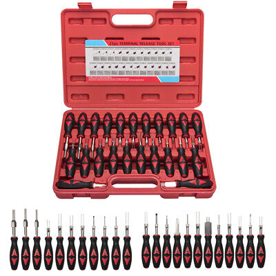 Auto Wire Crimp Electrical Connector Terminal Block Release Removal Tool Set Kit
