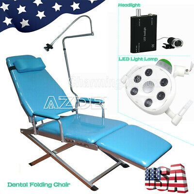 Dental Portable Folding Chair Simple Type Rechargeable Oral Led Light Lamp