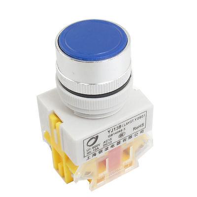 2 Pcs Blue 22mm Startstop No Lamp Push Button Switch 120240v 10 Amp Momentary