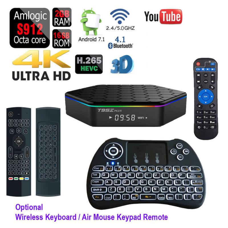 Octa Core T95Z PLUS Dual Wifi Bluetooth Android TV Box+Wireless Keyboard Remote