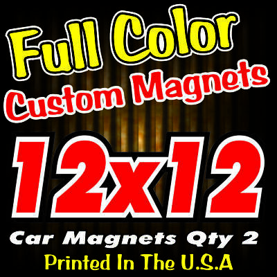 12x12 Custom Vehicle Magnets Full Color Auto Truck Signs
