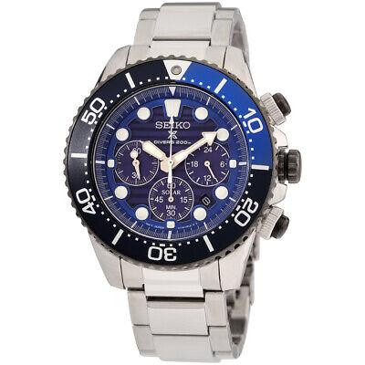 Seiko Prospex Quartz Movement Blue Dial Men's Watch SSC675 **Open Box**