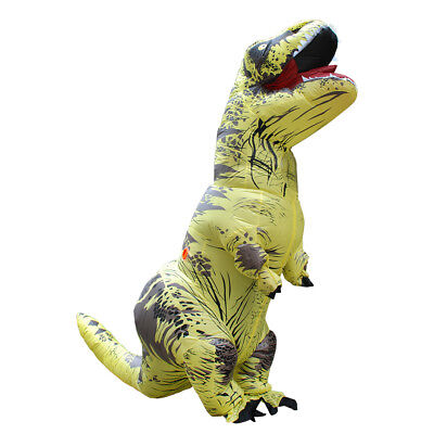 Inflatable T-Rex Dinosaur Costume Adult Fancy Dress Blow Up Suit-Yellow for sale  China