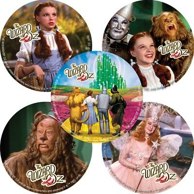 25 Wizard of Oz Stickers Bday Party Favors Teacher Supply Dorothy tin man Lion](Magician Party Favors)