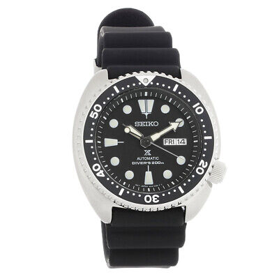 Seiko Prospex Automatic Divers 200 Black Strap Mens Watch SRP777