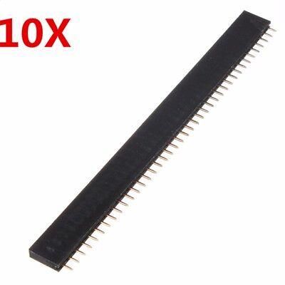 10pcs Female 40 Pin 140 2.54mm Pcb Single Header Socket Connector Row Strip