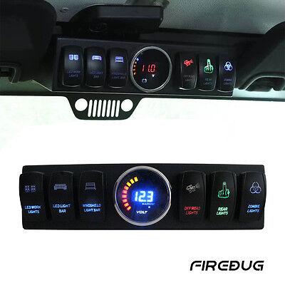 Firebug Jeep Wrangler Switch Panel Jeep 6 Rocker Switch Cotrol Bracket JK JKU