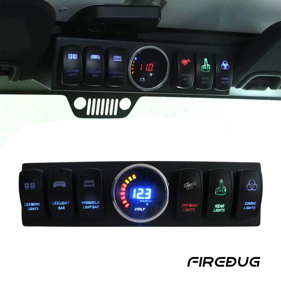 Firebug Jeep Wrangler Switch Panel Jeep 6 Rocker Switch