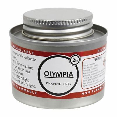 Olympia Liquid Chafing Fuel Food Warmer - Easy To Open And Reseal - 2 Hour Tins