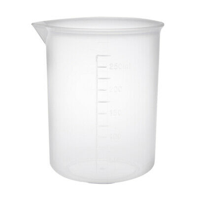 Transparent Measuring Cup Labs Pp Plastic Graduated Beakers 250ml