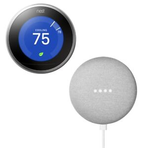 **FREE GOOGLE MINI**NEST THERMOSTAT 3RD GENBRAND NEW AND SEALED