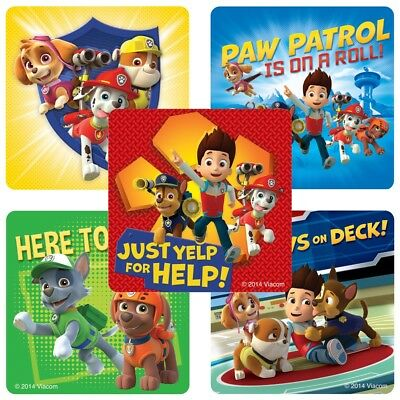20 Paw Patrol STICKERS Party Favors Supplies Birthday Treat Loot Bags Teacher - Paw Patrol Party Supplies