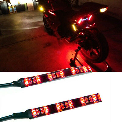Universal Motorcycle Led Red Tail Brake Signal Running Light 12V x 2 PIECE STRIP