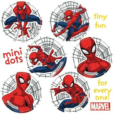 120 Spiderman Mini Dots STICKERS Party Favors for Birthday Loot Bags Spider-Man - Spiderman Party Bags