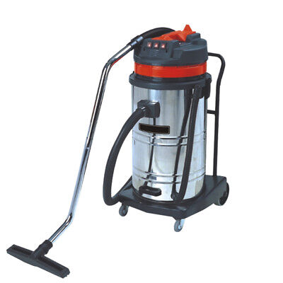Vi 220v 3000w 80l Commercial Industrial Vacuum Cleaner Wet Dry Stainless Steel
