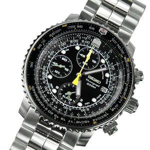 Brand New Seiko Flightmaster 200m Chronograph Men's Watch SNA411P1 SNA411