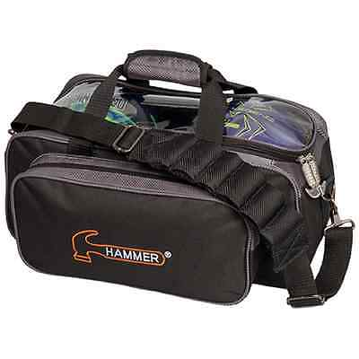 Hammer 2 Ball Shoulder Tote Bowling Bag Black/Carbon NEW