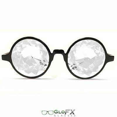 (GloFX Kaleidoscope Glasses Opticals Laser Cut Glass Crystals Theme Rave Party)