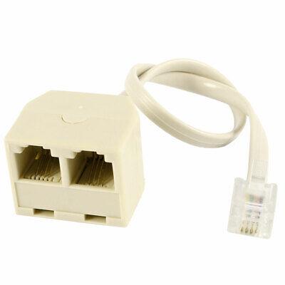 Teléfono 6P4C RJ11 Conector Macho Conector Jack a Dual Hembra Adaptador De...